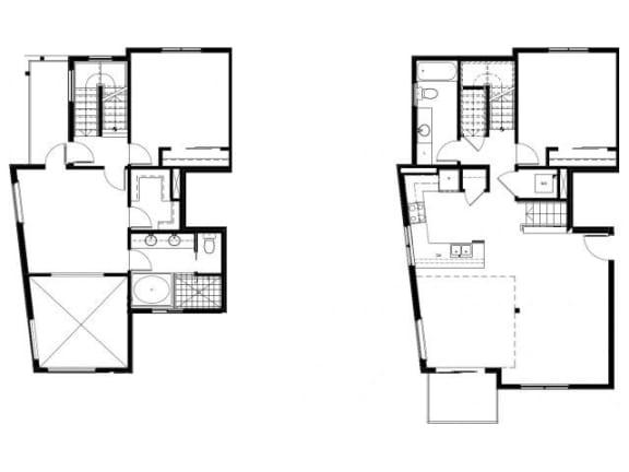 Capitol Yard Apartments_ West Sacramento CA_Floor Plan_Three Bedroom Two Bathroom C2