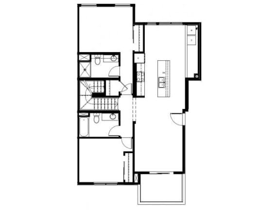 Capitol Yard Apartments_ West Sacramento CA_Floor Plan_Two Bedroom Two Bathroom B1