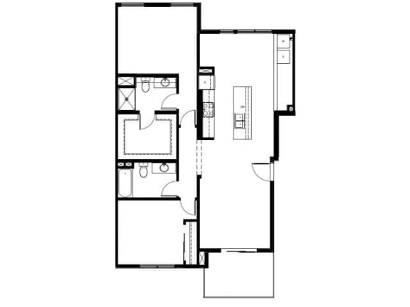 Capitol Yard Apartments_ West Sacramento CA_Floor Plan_Two Bedroom Two Bathroom B2