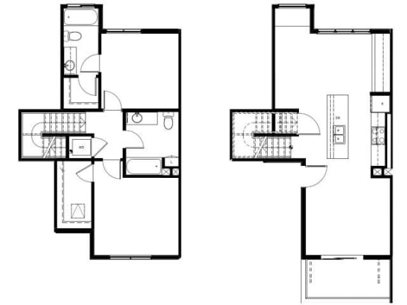 Capitol Yard Apartments_ West Sacramento CA_Floor Plan_Two Bedroom Two Bathroom B3