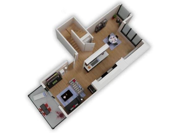 Floor Plan  Capitol Yard Apartments_ West Sacramento CA_Floor Plan_Two Bedroom Two Bathroom B3