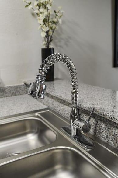 Stainless Steel Sink at Mesh Properties, Austin, TX, 78741