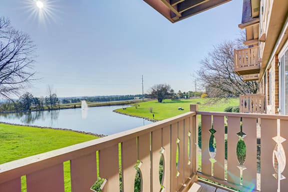 Cafe Style Balconies with Views at Autumn Woods Apartments, Miamisburg 45342