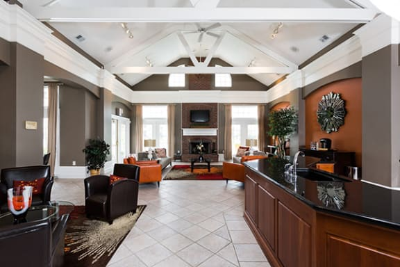 Luxurious Spacious Clubhouse with Concierge Desk at Latitudes Apartments, Indianapolis, IN