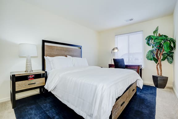 Furnished Bedroom at Pheasant Run Apartments, Lafayette