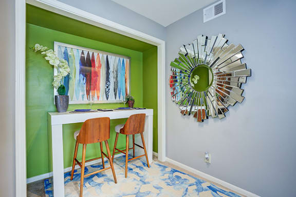 Optional Flex Space turned Dining Nook at Polo Run Apartments, Greenwood, Indiana