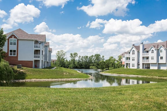 Tranquil Lake Views from Private Patio or Balcony at Sundance at The Crossings Apartments, Indianapolis 46237
