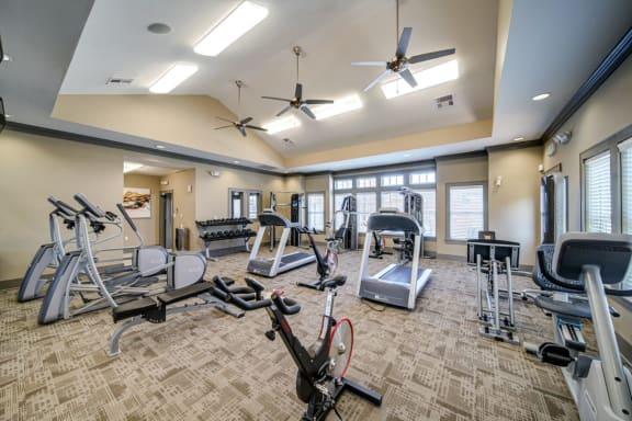 Modern Fitness Center at Avellan Springs Apartments, North Carolina, 27560