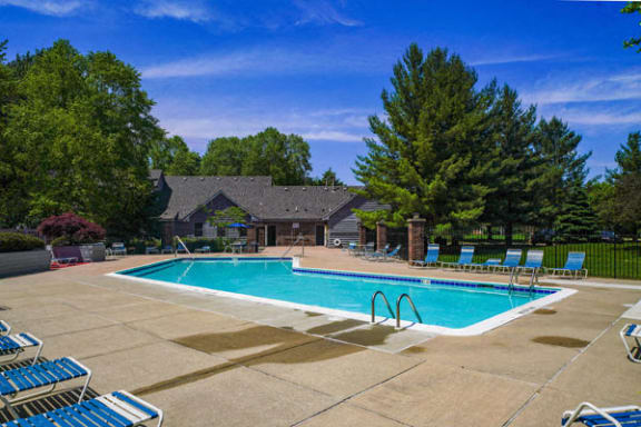 Pool With Large Sundeck and Wi-Fi at Byron Lakes Apartments in Byron Center, MI