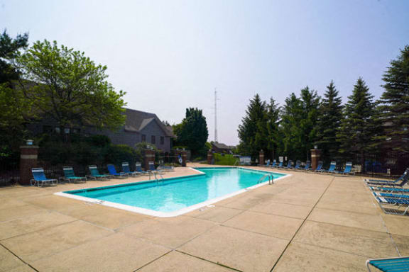 Pool With Large Sundeck and Wi-Fi at Green Ridge Apartments in Grand Rapids, MI