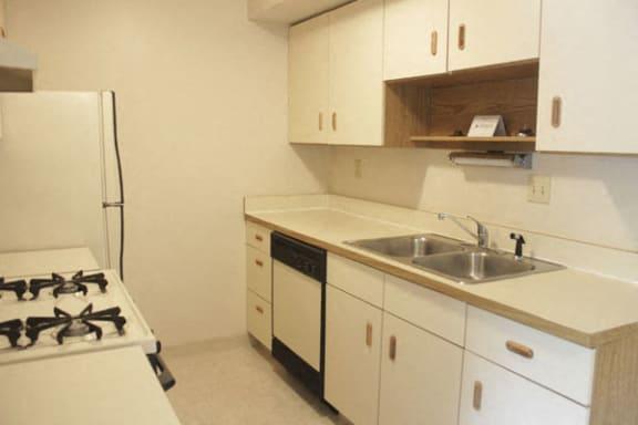 Kitchen with Dishwasher at Seville Apartments in Kalamazoo, MI