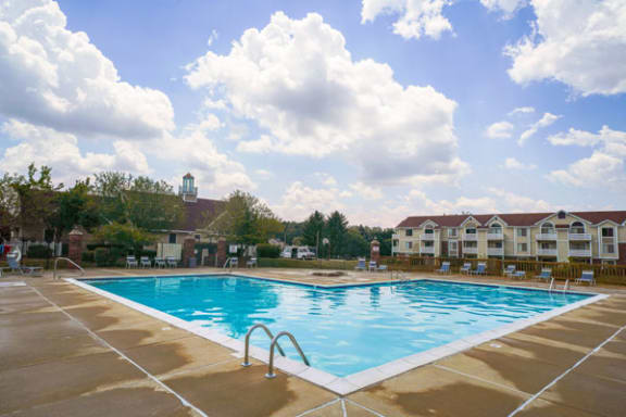 Resort-style Pool with Wi-Fi at South Bridge Apartments in Fort Wayne, IN
