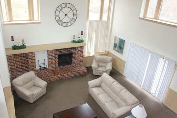 Clubhouse with High Ceiling at Wingate Apartments in Kentwood, MI