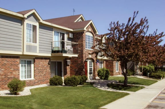 Private Balcony or Terrace at Wood Creek Apartments in Kenosha, WI