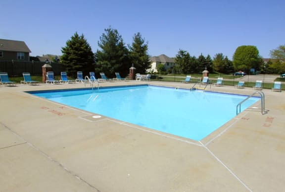 Outdoor Pool with Wi-Fi at Wood Creek Apartments in Kenosha, WI