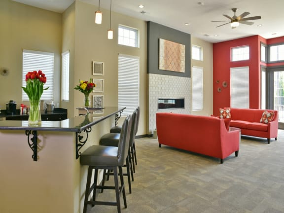 Clubhouse Breakfast Bar at Irene Woods Apartments, Collierville
