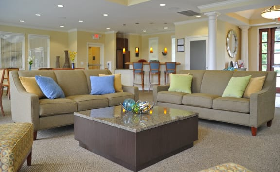Resident Clubhouse Lounge at LakePointe Apartments, Batavia