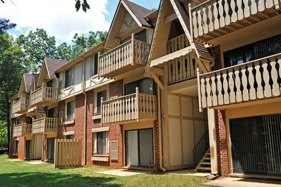 Private Balcony or Patio at Laurel Woods Apartments, Greenville, SC