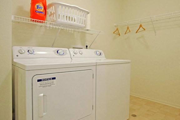 Washer and Dryer in Every Apartment at The Harbours Apartments, Clinton Twp