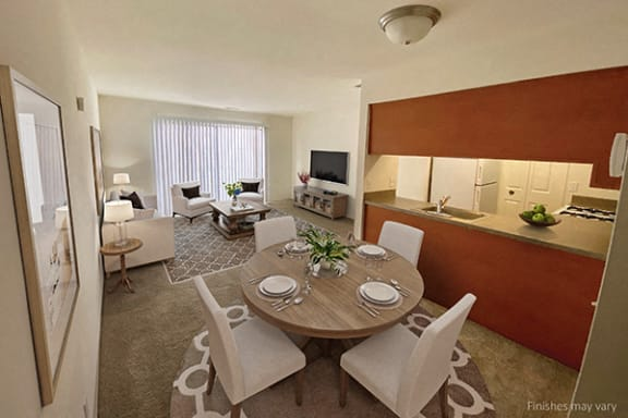 Open Concept Living Areas at The Landings Apartments, Westland