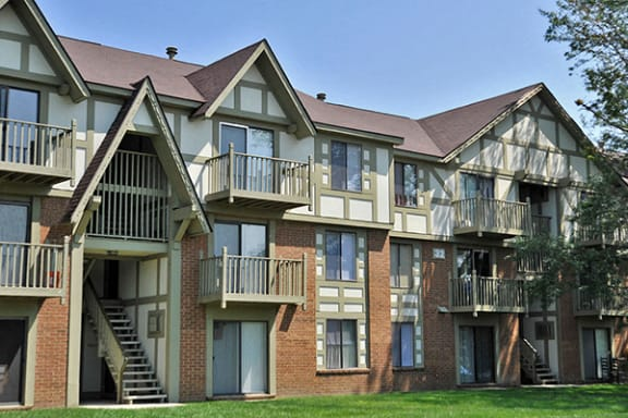 Private Patio Or Balcony at The Village Apartments, Wixom, Michigan