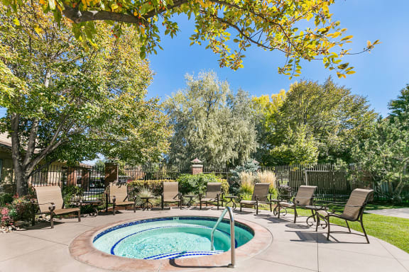 Relaxing Year Round Hot Tub/ Spa at Month to Month Rentals Salt Lake City