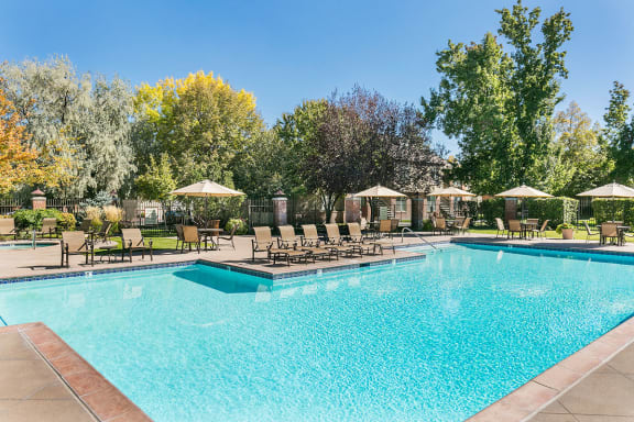 Crystal Clear Swimming Pool at SLC Apartments for Rent Near Sky Harbor Airport
