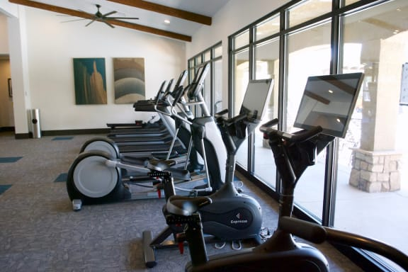 Resident Gym with Cardio Equipment at Albuquerque Apartments for Rent