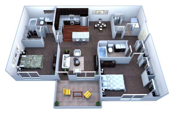 Walton Bluegrass B2 Floor Plan, Alpharetta, GA