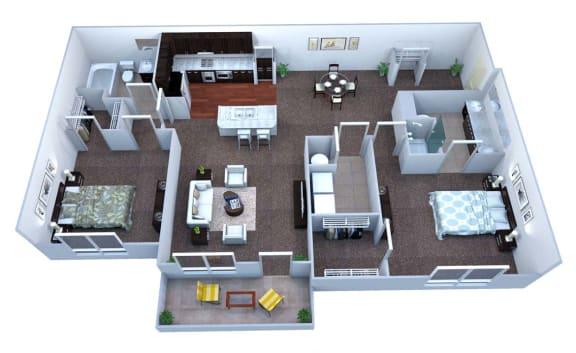 Walton Bluegrass B3 Floor Plan, Alpharetta GA