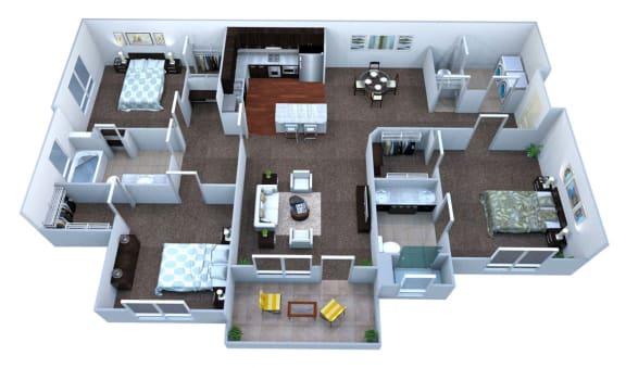 Walton Bluegrass C1 Floor Plan, Alpharetta GA
