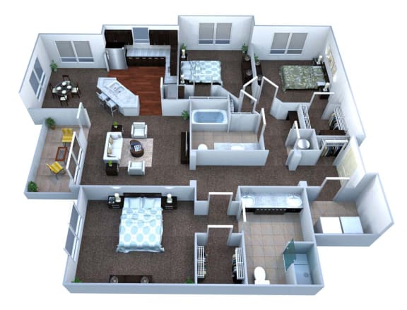 Walton Bluegrass C2 Floor Plan, Alpharetta GA