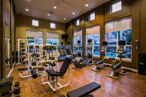 24 Hour Fitness Center with Exercise Machines at Hillsboro Townhouses Near Me