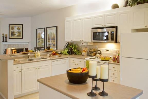 Spacious Gourmet Kitchen Island Upgrade at Hillsboro Oregon Apartments Near PCC Rock Creek