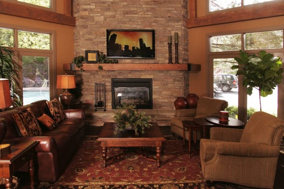Cozy Resident Clubhouse at Highland Apartments for Rent UT