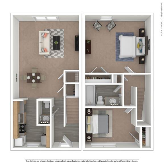 Floor Plan  Alsace Floor Plan at The Courtyards of Chanticleer, Virginia, 23451