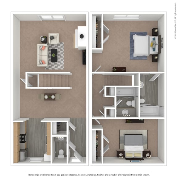 Floor Plan  Chateau Floor Plan at The Courtyards of Chanticleer, Virginia Beach, VA, 23451