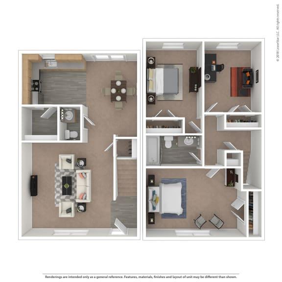 Floor Plan  Riviera Floor Plan at The Courtyards of Chanticleer, Virginia Beach, VA