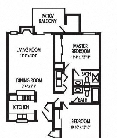 Nantucket Floorplan at Waterfield Square Apartment Homes