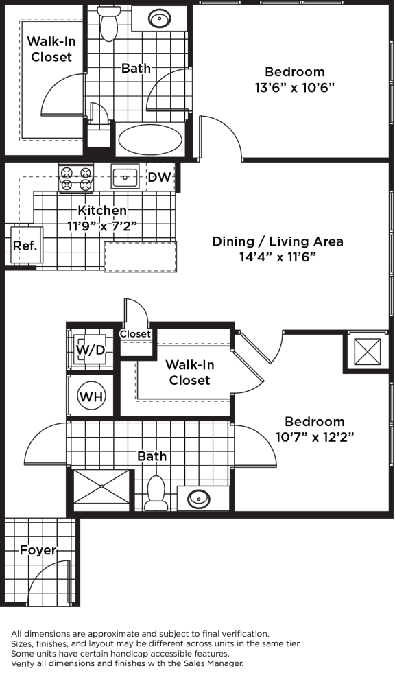 Floor Plan  B11m (Income Restricted)