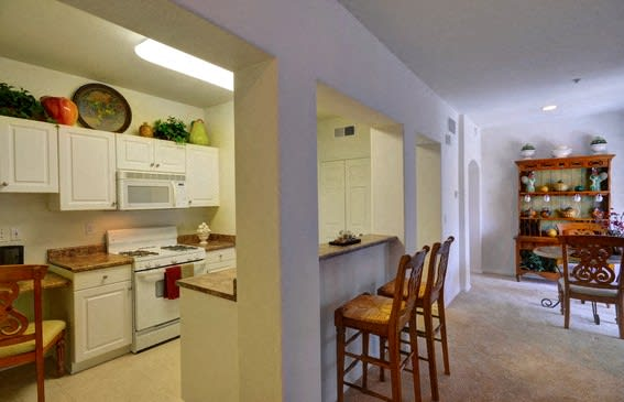 Kitchen with Breakfast Bar, at Casoleil, 1100 Dennery Rd
