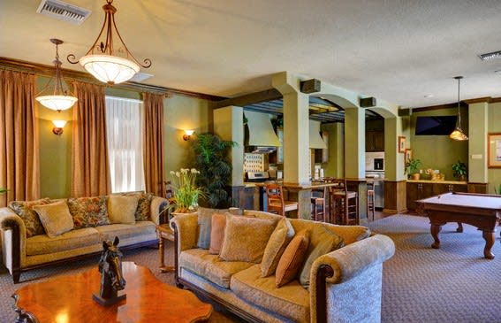 Clubhouse with TV, Fireplace, and Kitchen, at Casoleil, San Diego, 92154