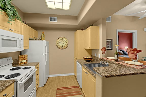 Eat-In Kitchen at 55+ FountainGlen Grand Isle, Murrieta, 92562