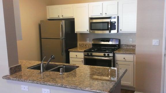 Renovated Kitchen at 55+ FountainGlen Terra Vista, California
