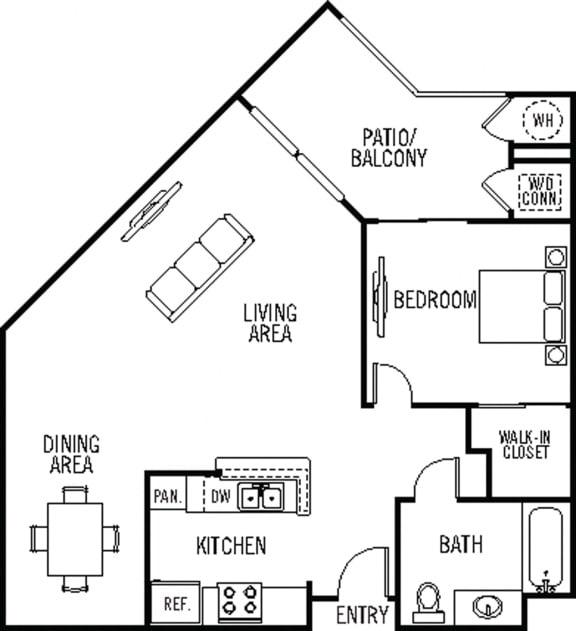 Monterey Floor Plan at 55+ FountainGlen Valencia, Valencia, 91354