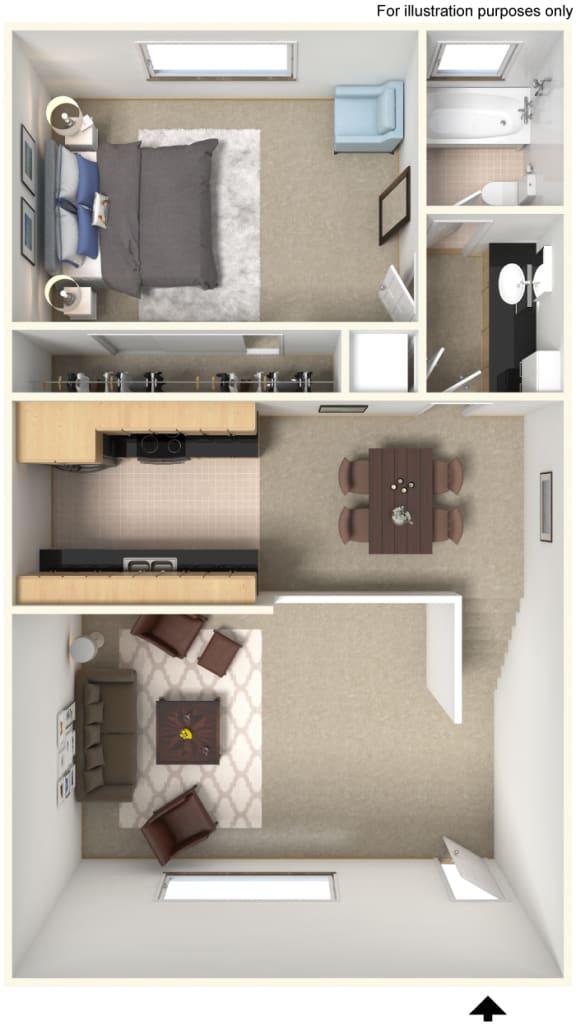 A1 Floor Plan at Stoneridge Apartment Homes Upland, CA