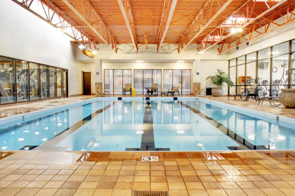 Heated Indoor Swimming Pool, at Reserve Square, Cleveland, 44114