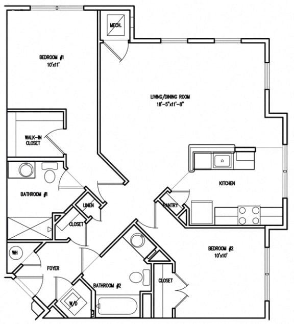 Floor Plan  Victory Court Floor Plan 2B