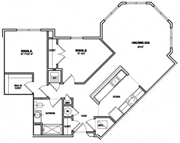 Floor Plan  Victory Court Floor Plan 2J