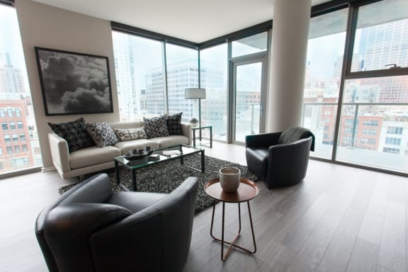 Resident Lounge at Catalyst, Chicago, IL,60661